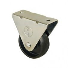 FURNITURE CASTERS - FIXED - BLACK PLASTIC