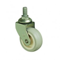 50mm FURNITURE CASTERS - SWIVEL - M10 STUD - GREY PVC