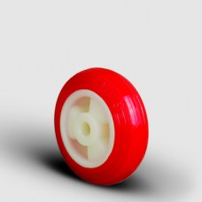 Polyurethane Caster Wheel - Red PU