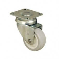 FURNITURE CASTERS - SWIVEL TOP PLATE - GREY PVC