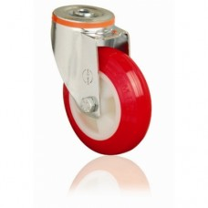 POLYURETHANE CASTERS - SWIVEL - SINGLE BOLT HOLE
